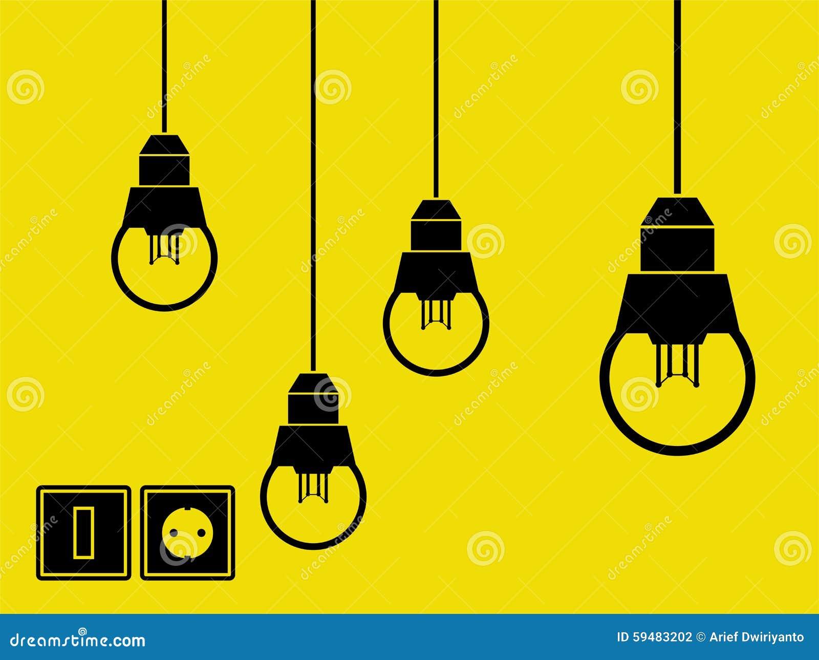Lampor, strömbrytare och hålighet