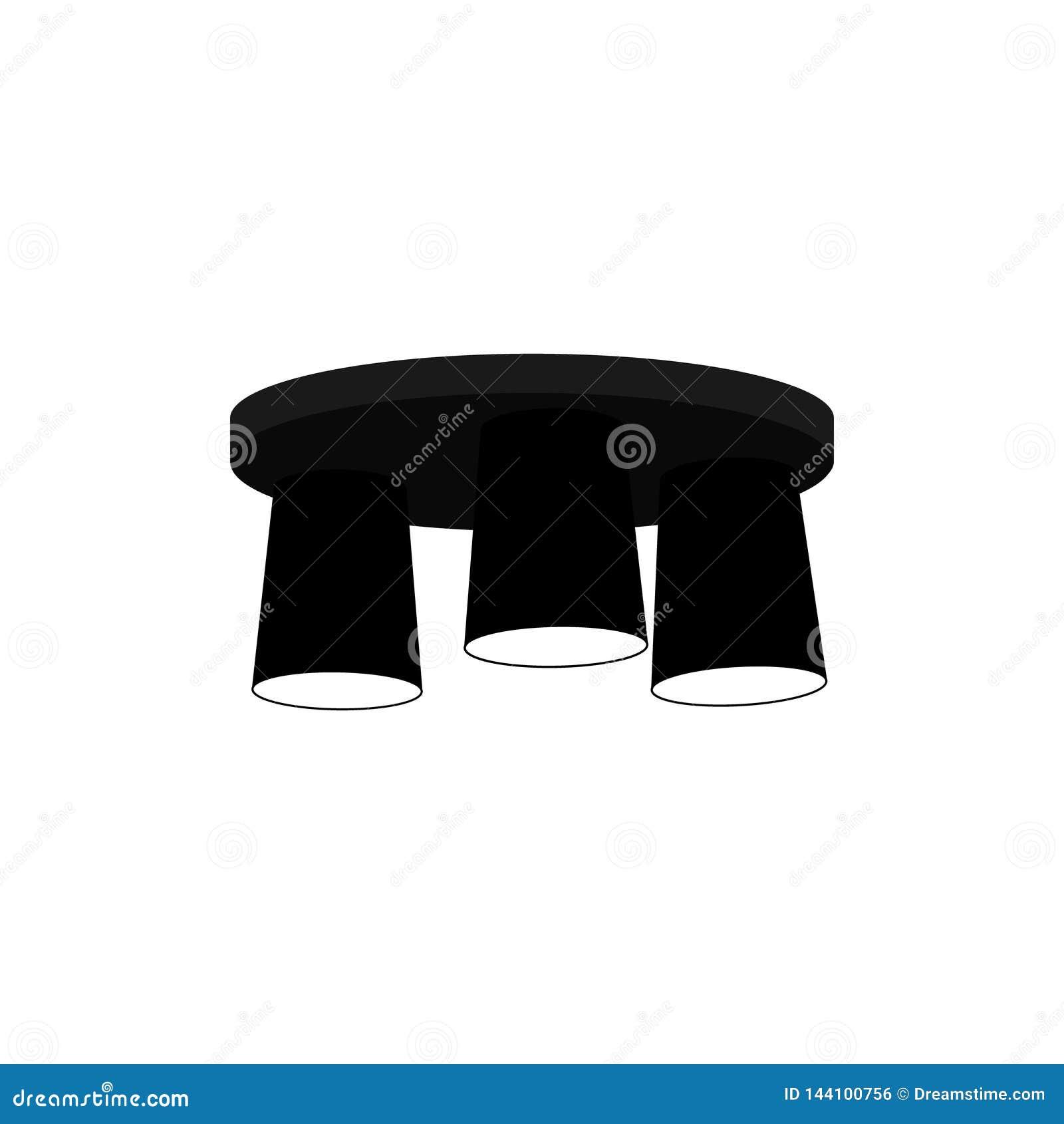 Lampowy świecznik dla trzy stropuje