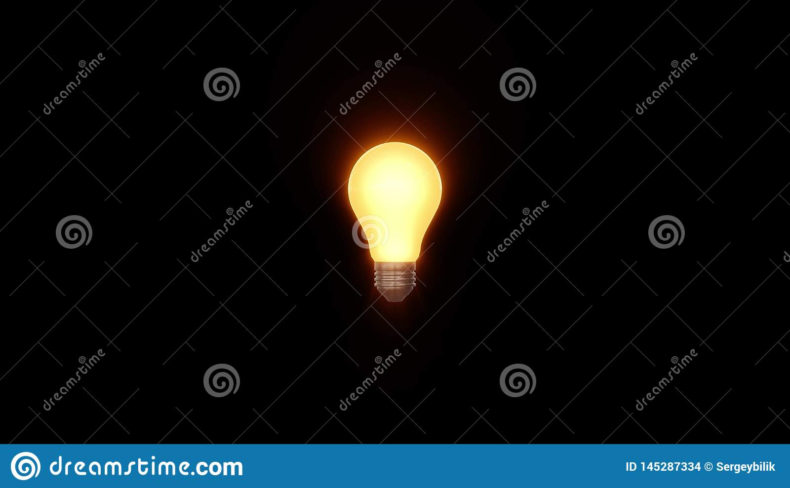 Lampowy ligh żarówki jaśnienie w promieniach światło okulistyczny obiektyw migocze 3d renderingu ilustracyjnego tła nowego