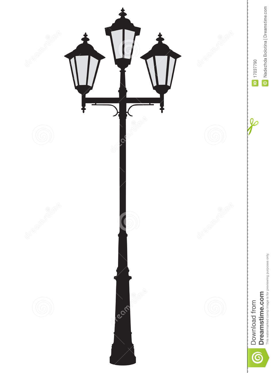 Lamppost, vector stock vector. Illustration of background - 17037790 for Street Lamp Post Vector  575lpg