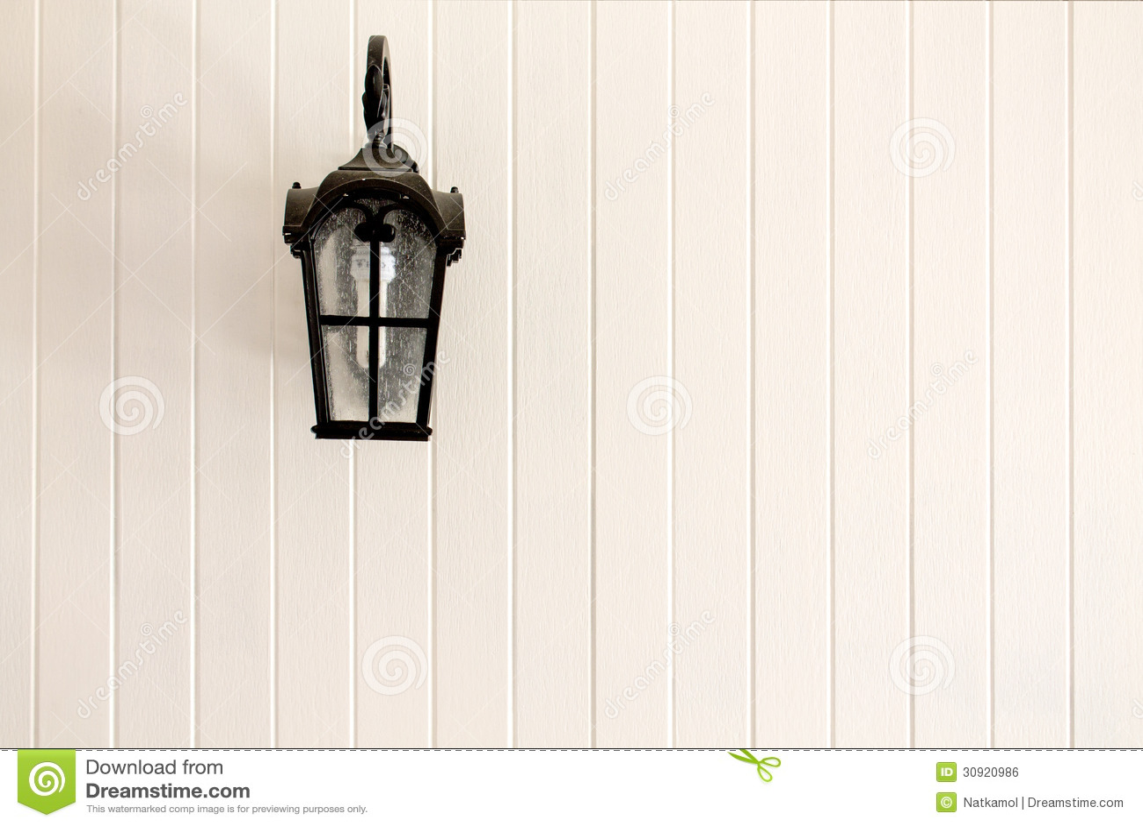 Lampposts στον τοίχο