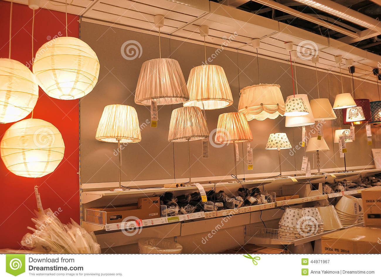 inside lighting. Lamps And Lighting Fixtures In The Store Inside R