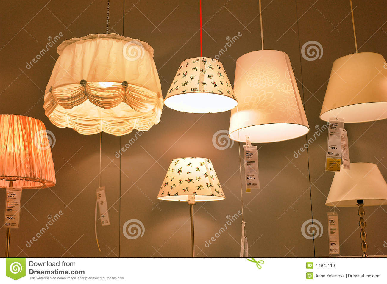 Lamps And Lighting >> Lamps And Lighting Fixtures In The Store Editorial Image