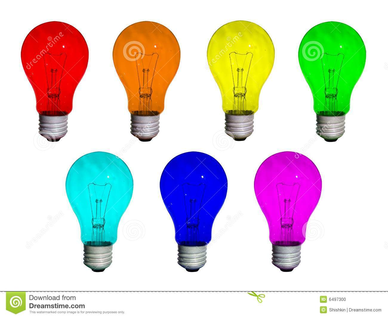 Lamps Rainbow Stock Photo Image 6497300