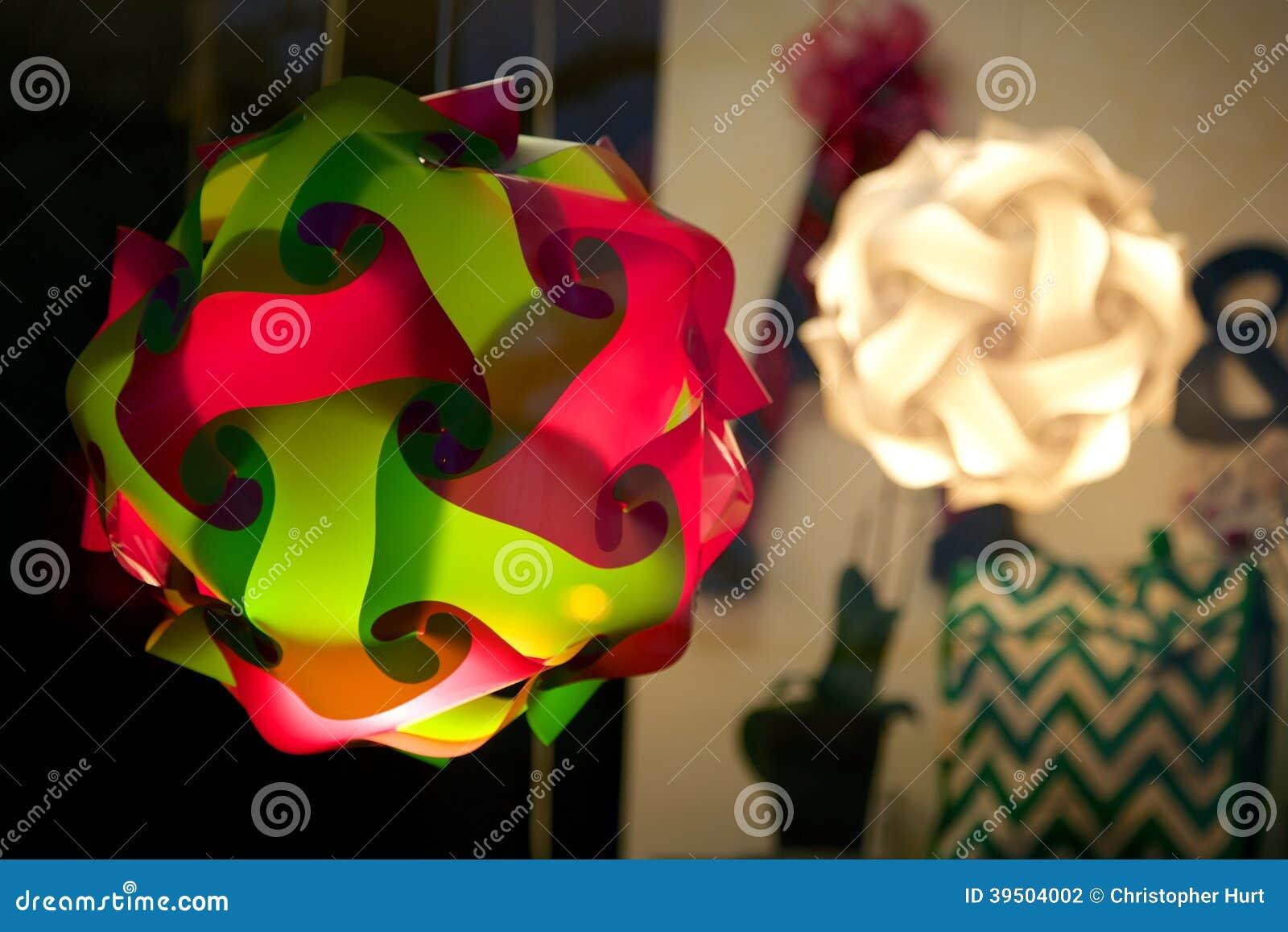 Lamps in Shop Window