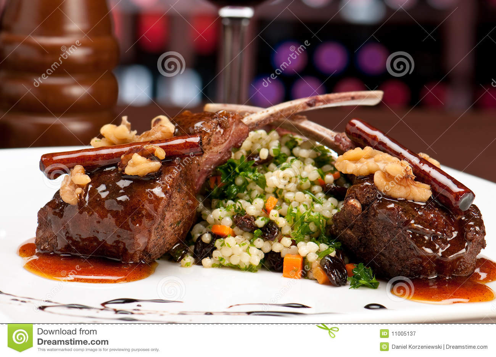 Lamskoteletten in restaurant
