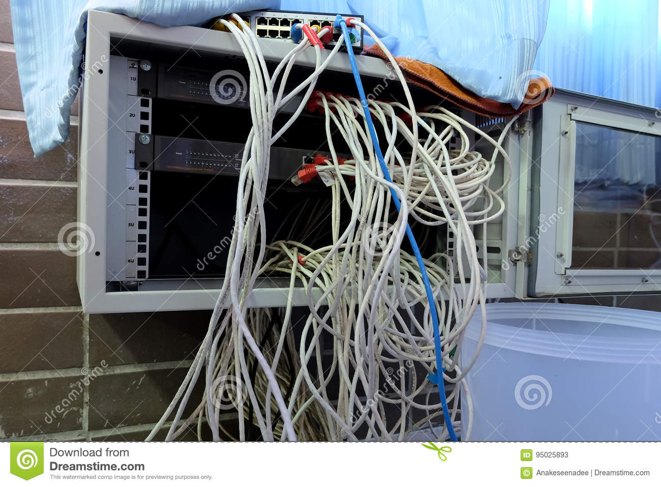 Lan cable tangle stock image. Image of detail, information - 95025893