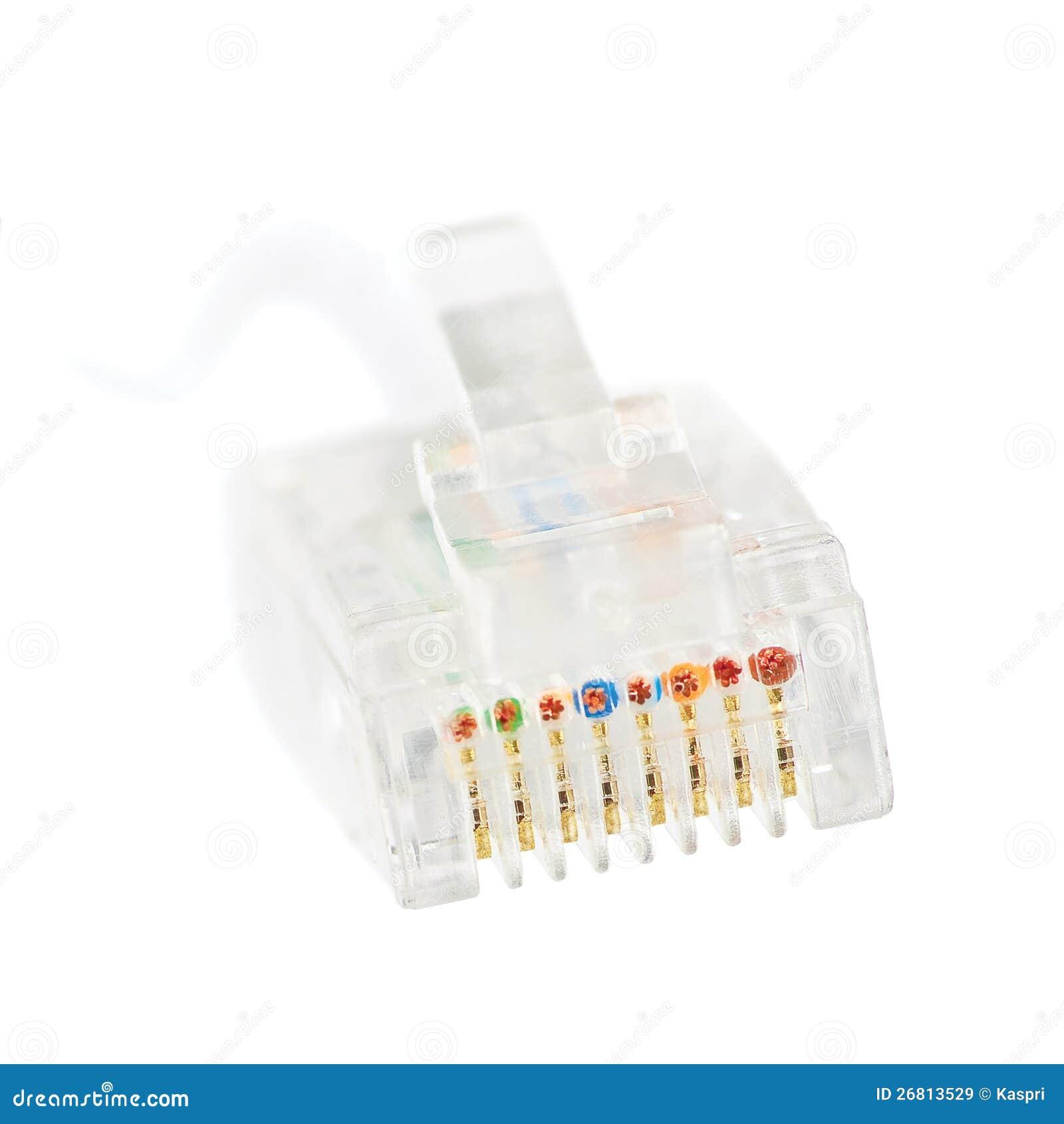 LAN Internet Ethernet Network Rj45 Jack Isolated Stock ...