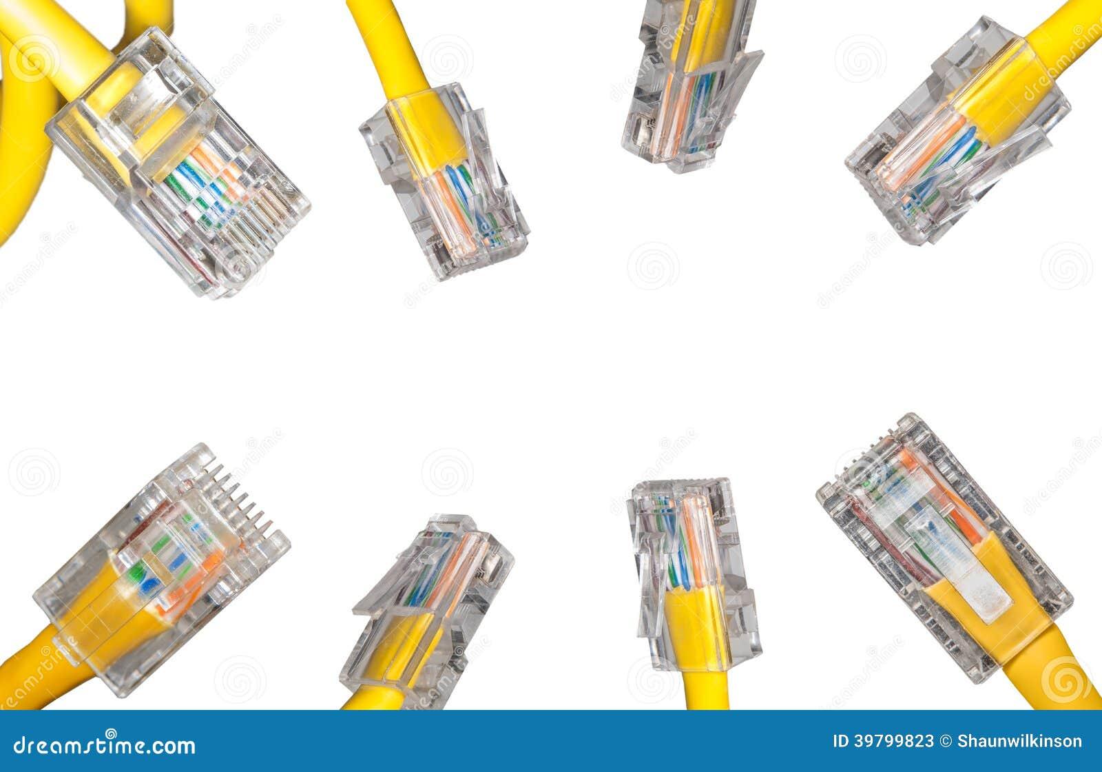 Lan kabel dichte omhooggaand