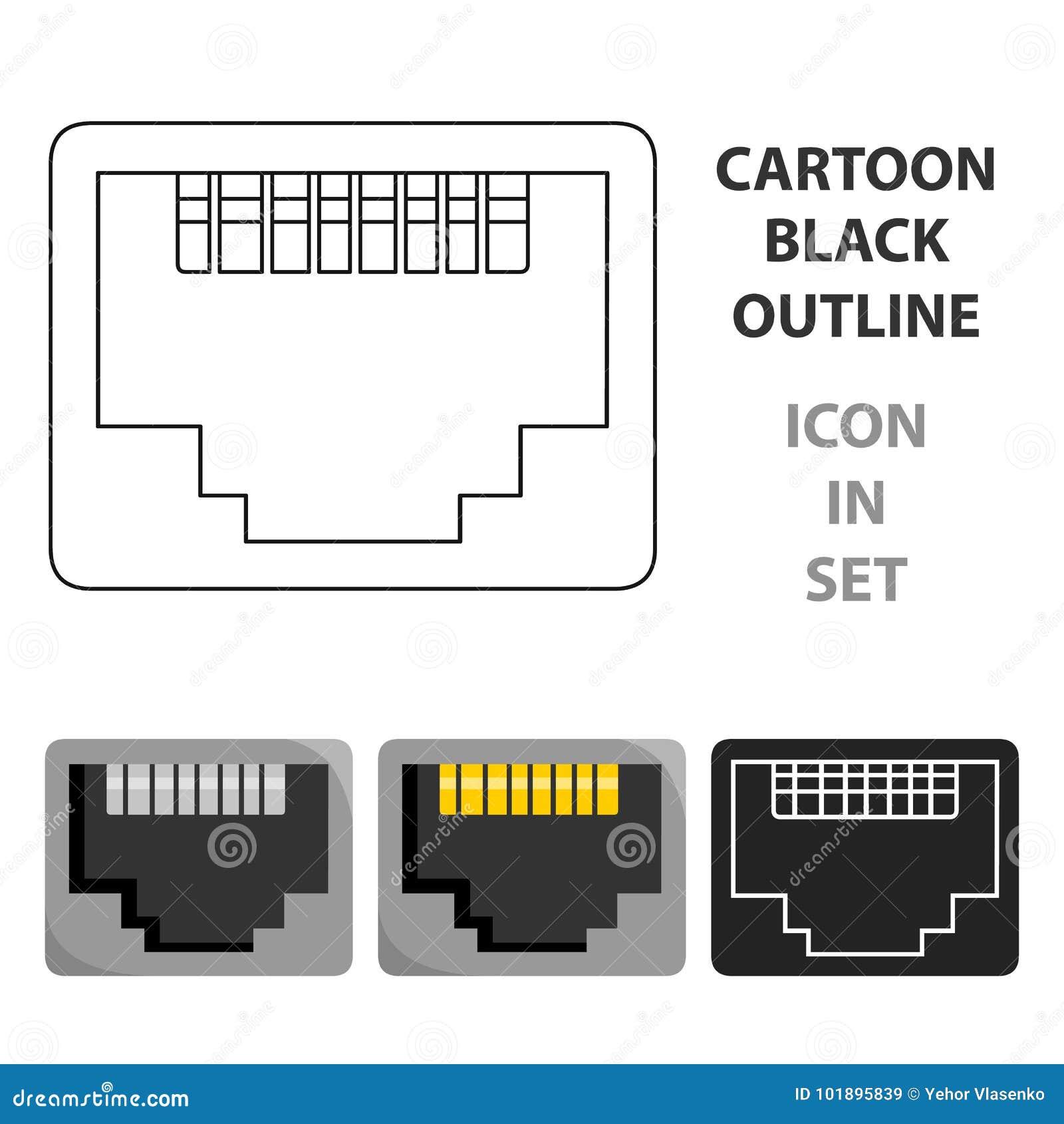 Network port symbol choice image symbol and sign ideas lan port icon in cartoon style isolated on white background lan port icon in cartoon style buycottarizona