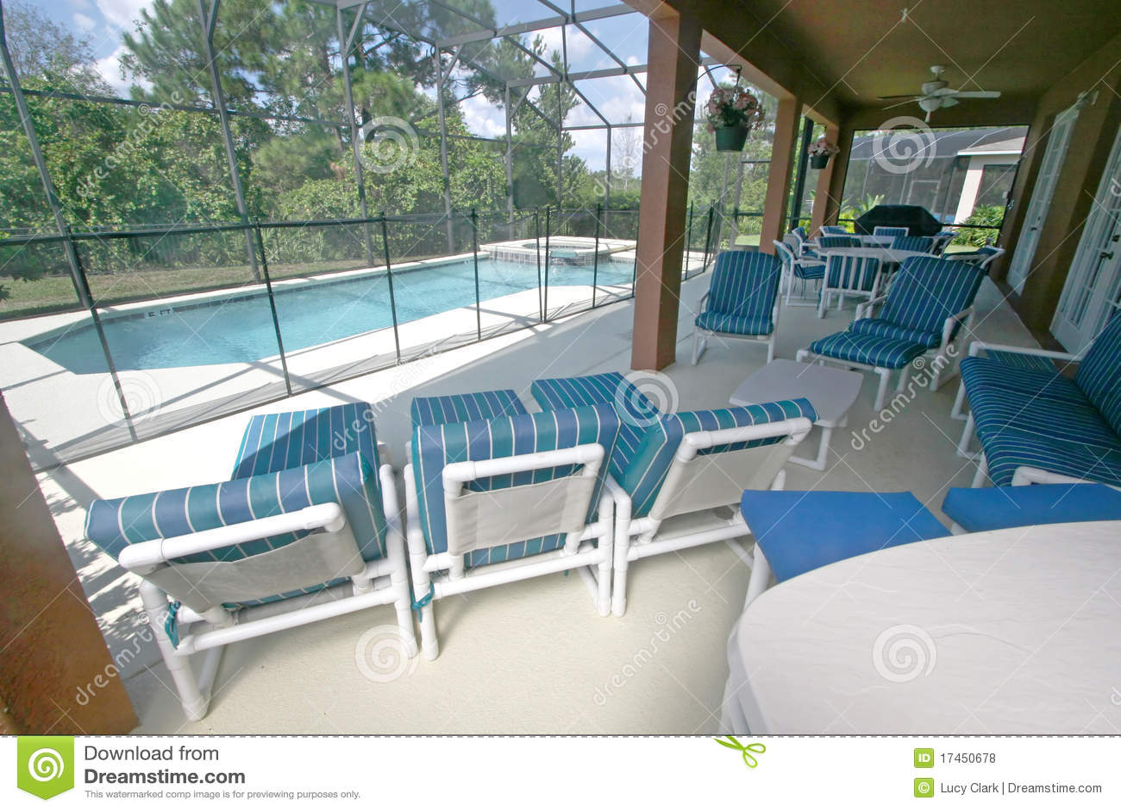 Lanai Pool And Spa Royalty Free Stock Photos Image