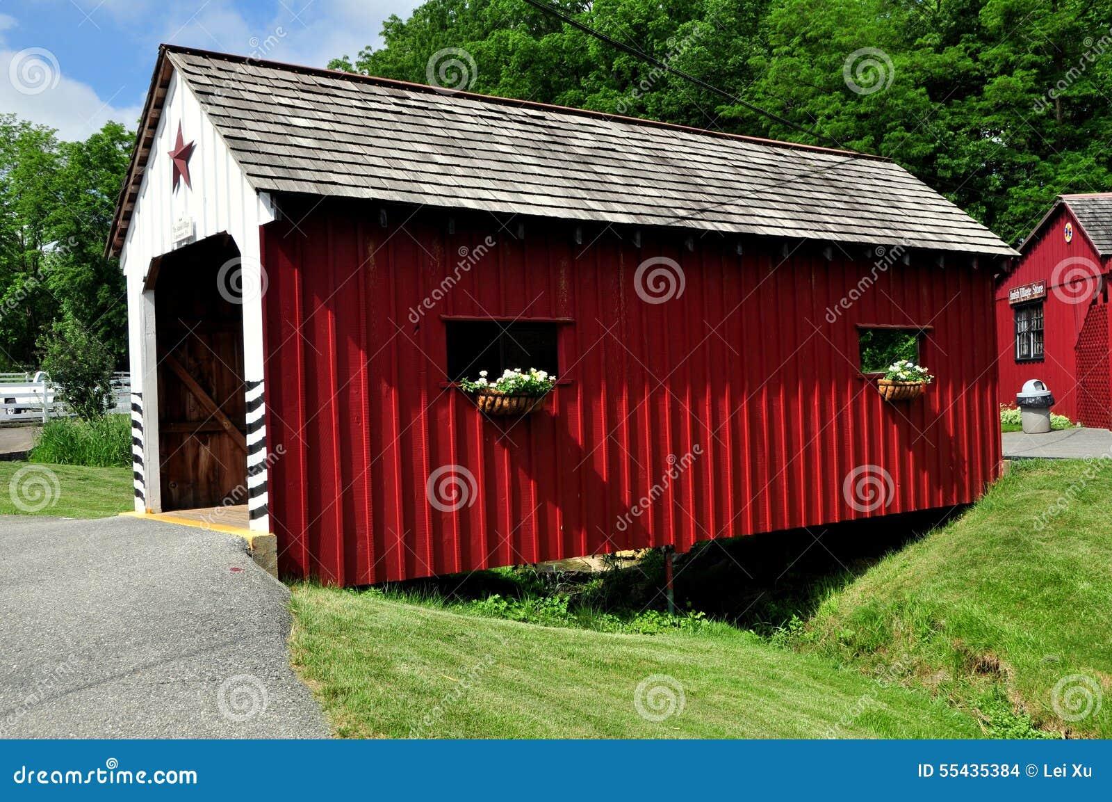 Lancaster, PA: Amish wioska Zakrywający most