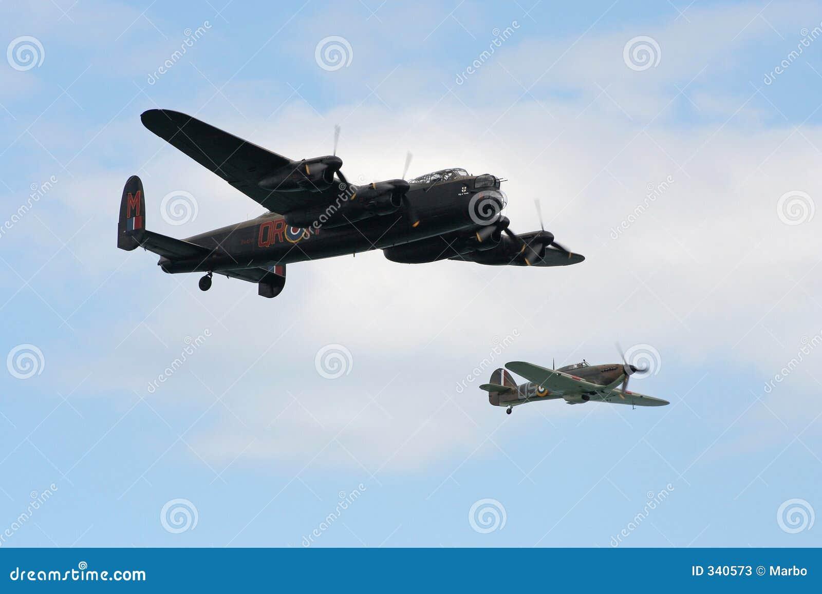 Lancaster und Hurrikan.