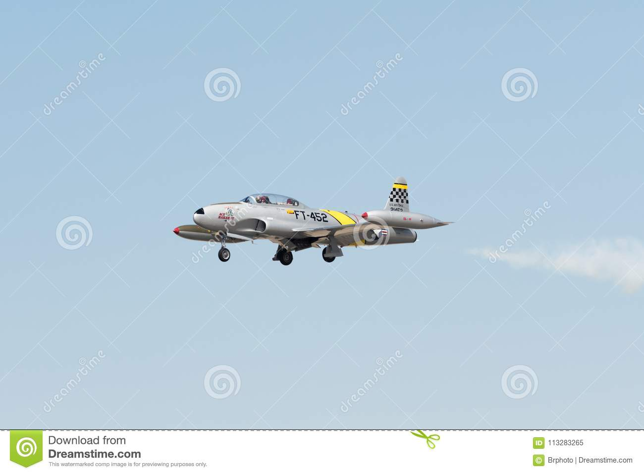 Lockheed T-33 Ace Maker editorial image  Image of squadron