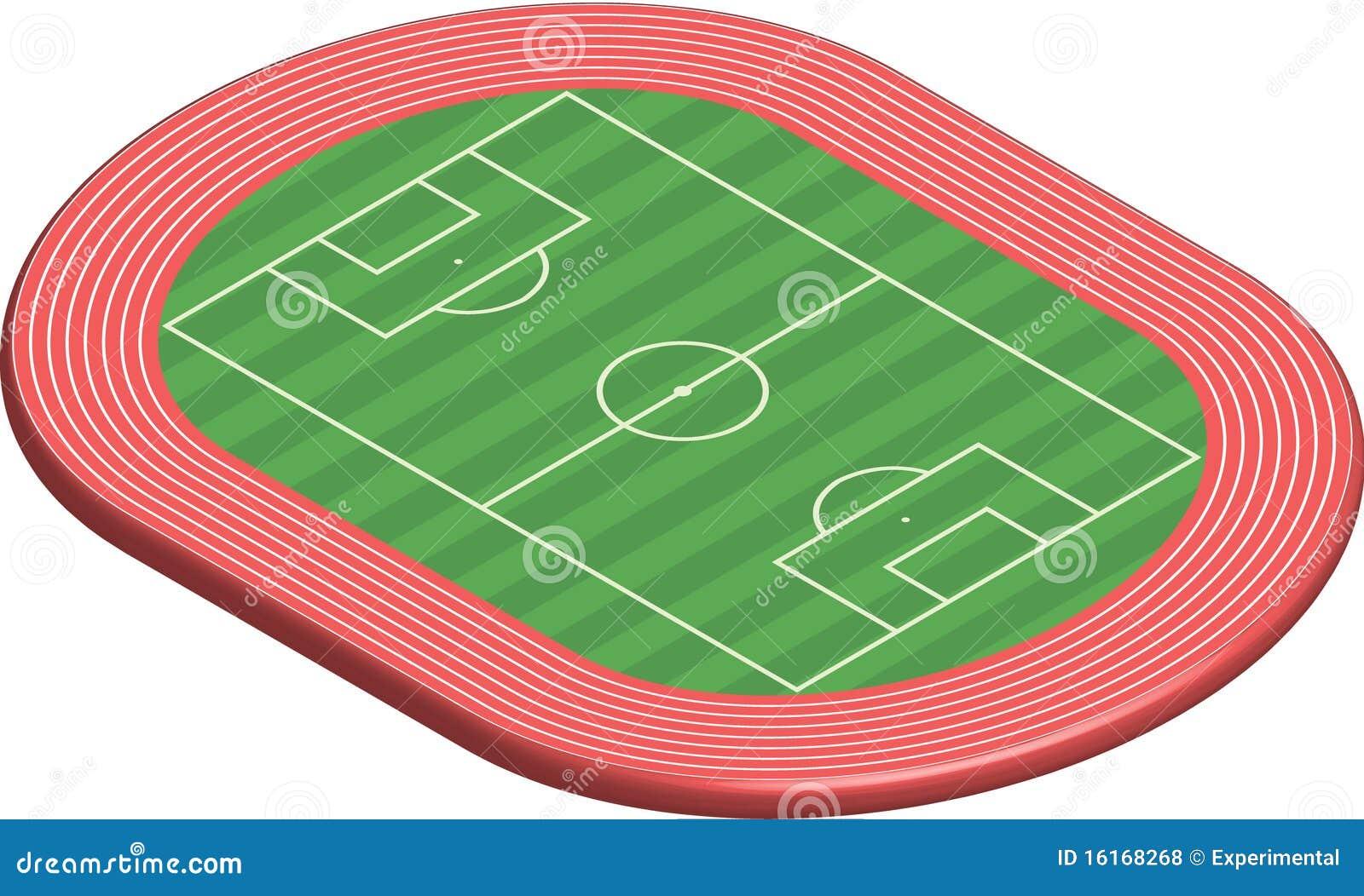 lancement dimensionnel du terrain de football 3 illustration de vecteur illustration du grille. Black Bedroom Furniture Sets. Home Design Ideas