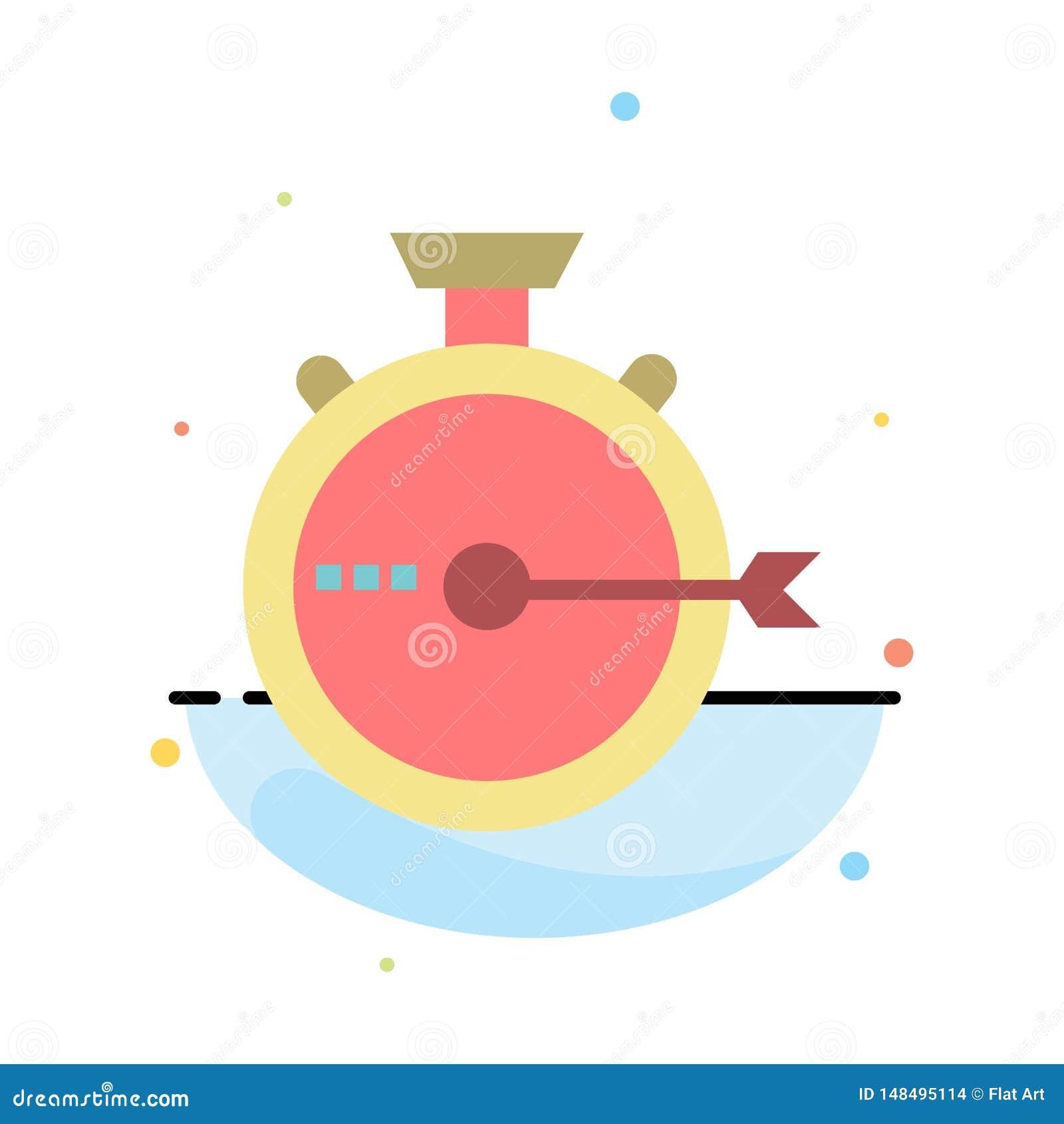 Lancering, Beheer, Optimalisering, Versie, het Pictogrammalplaatje van de Chronometer Abstract Vlak Kleur