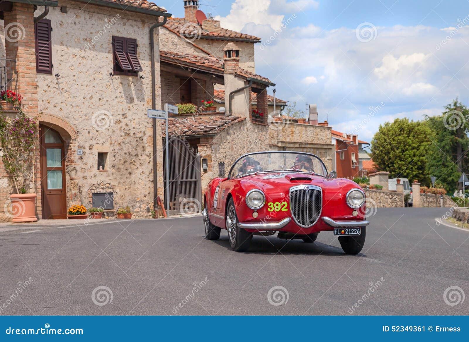Colle Val D'Elsa Italy  City pictures : LANCIA Aurelia B24 Spider In Mille Miglia 2014 Editorial Photo Image ...