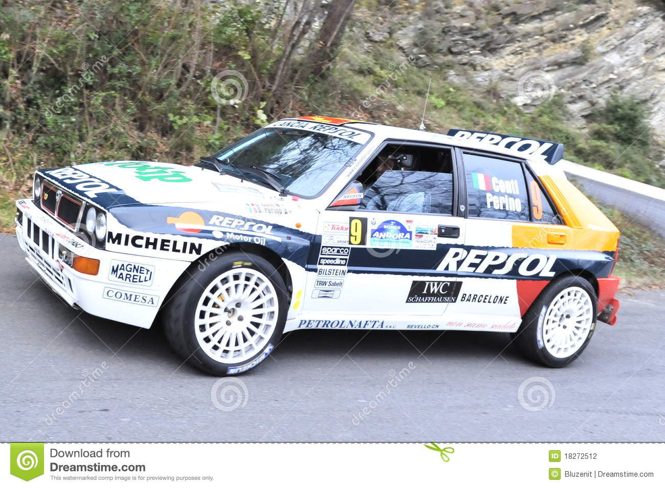 lancia delta rally editorial photography image of speed 18272512. Black Bedroom Furniture Sets. Home Design Ideas