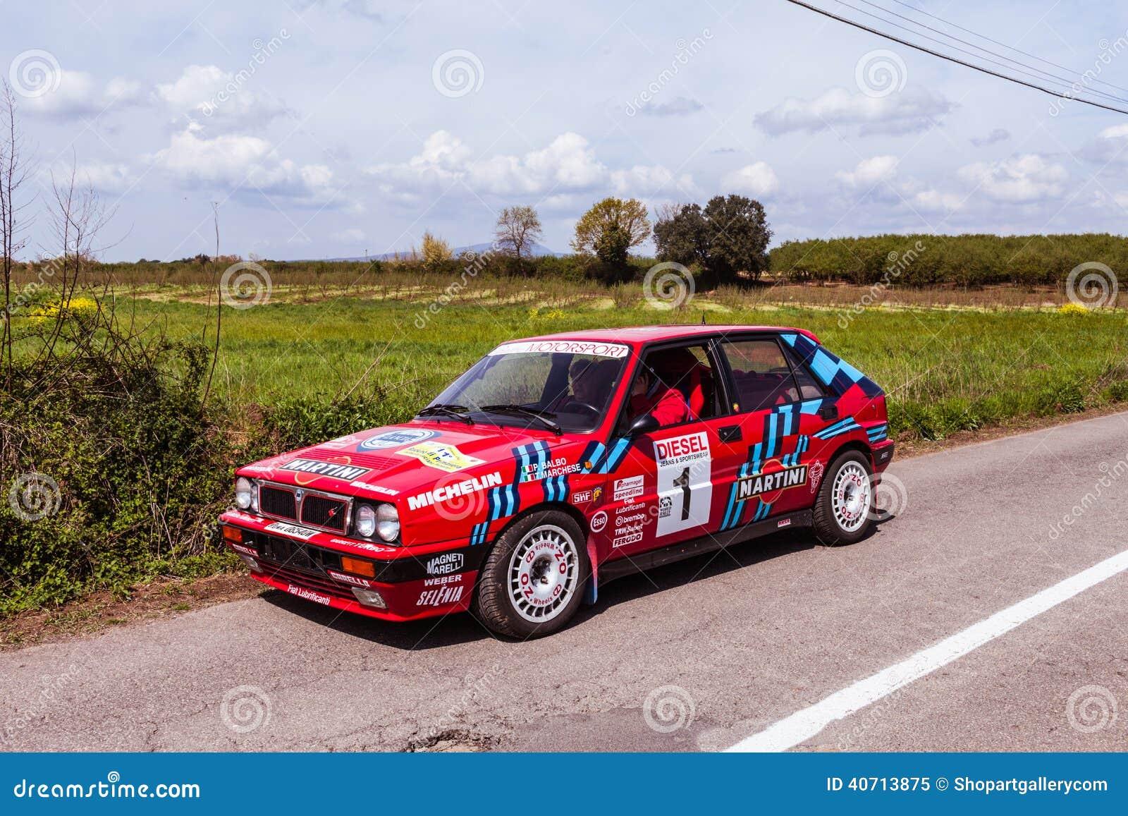 Lancia Delta Vintage Rally Car Editorial Image - Image of spring ...