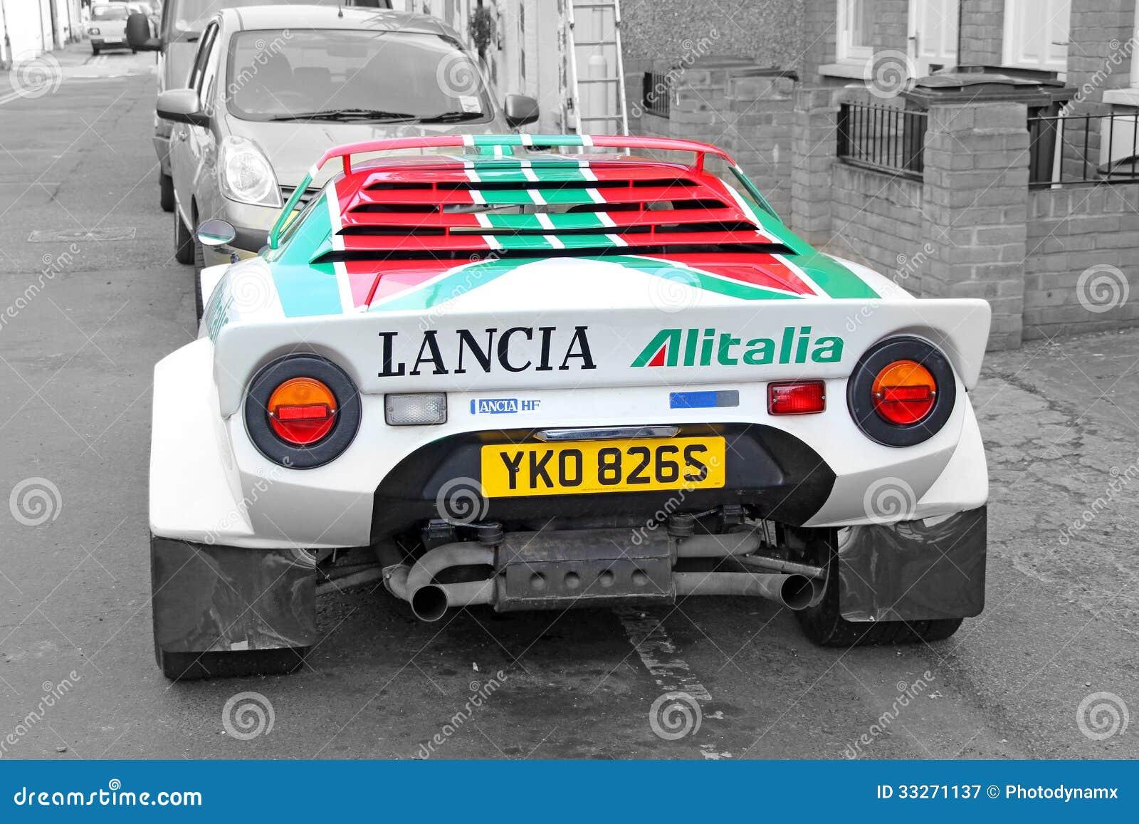 lancia sponsored racing car editorial photography image 33271137. Black Bedroom Furniture Sets. Home Design Ideas