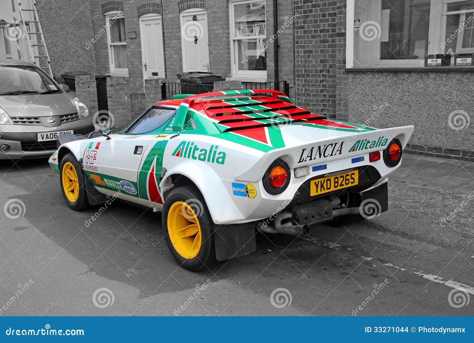 Lancia Sponsored Racing Car Editorial Stock Image Image 33271044