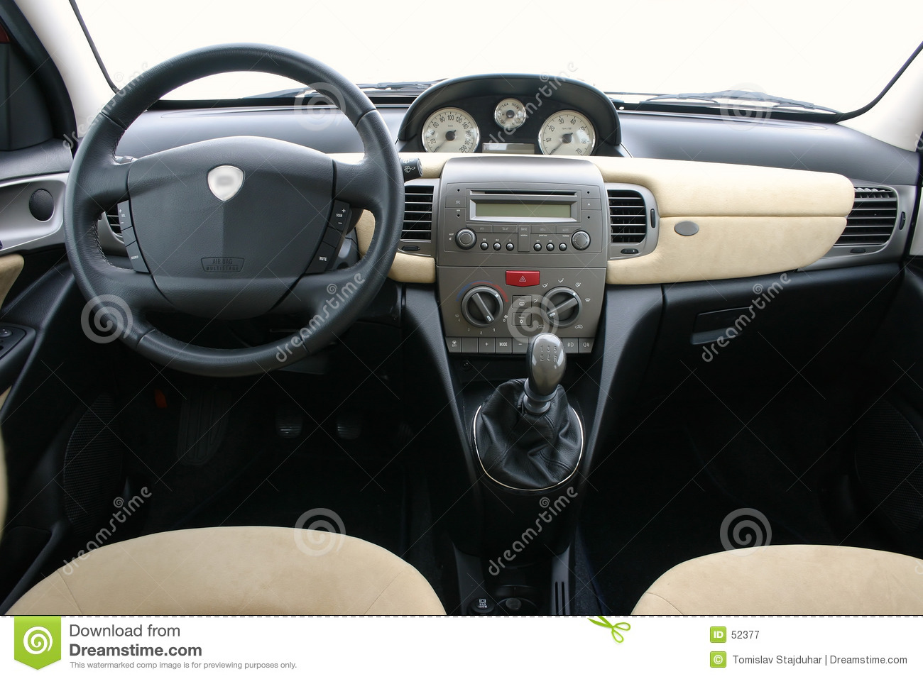 Lancia Y (ypsilon) Interior Stock Image - Image of quick, design: 52377