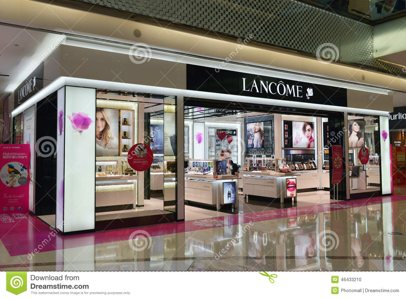 Lancome Osmetics Store In Shopping Plaza,shopping Mall ...