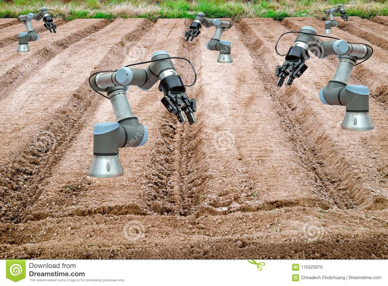 Smart Farming 4.0 And Industry 4.0, Innovation Concept Idea Stock ...