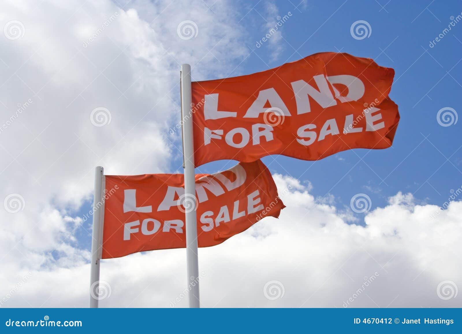 Land für Verkaufs-Markierungsfahnen