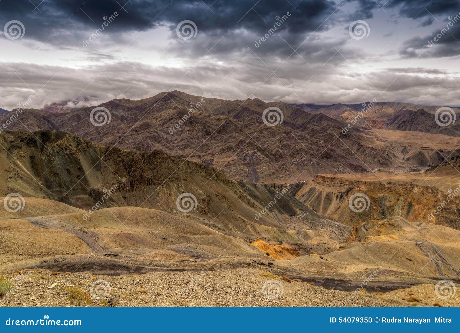 Land, Ladakh, Jammu en Kashmir, India op de maan