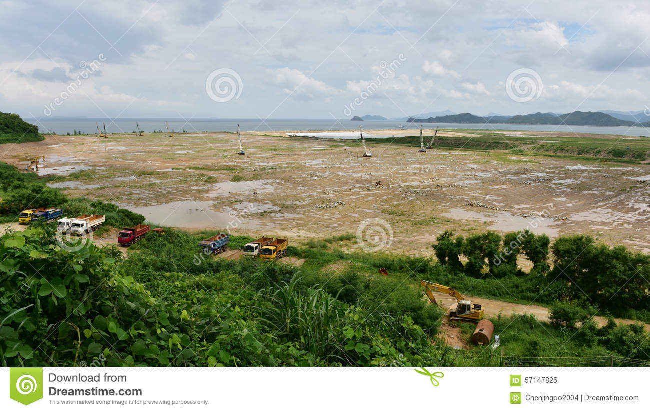 Land reclamation stock image image of project for Soil reclamation