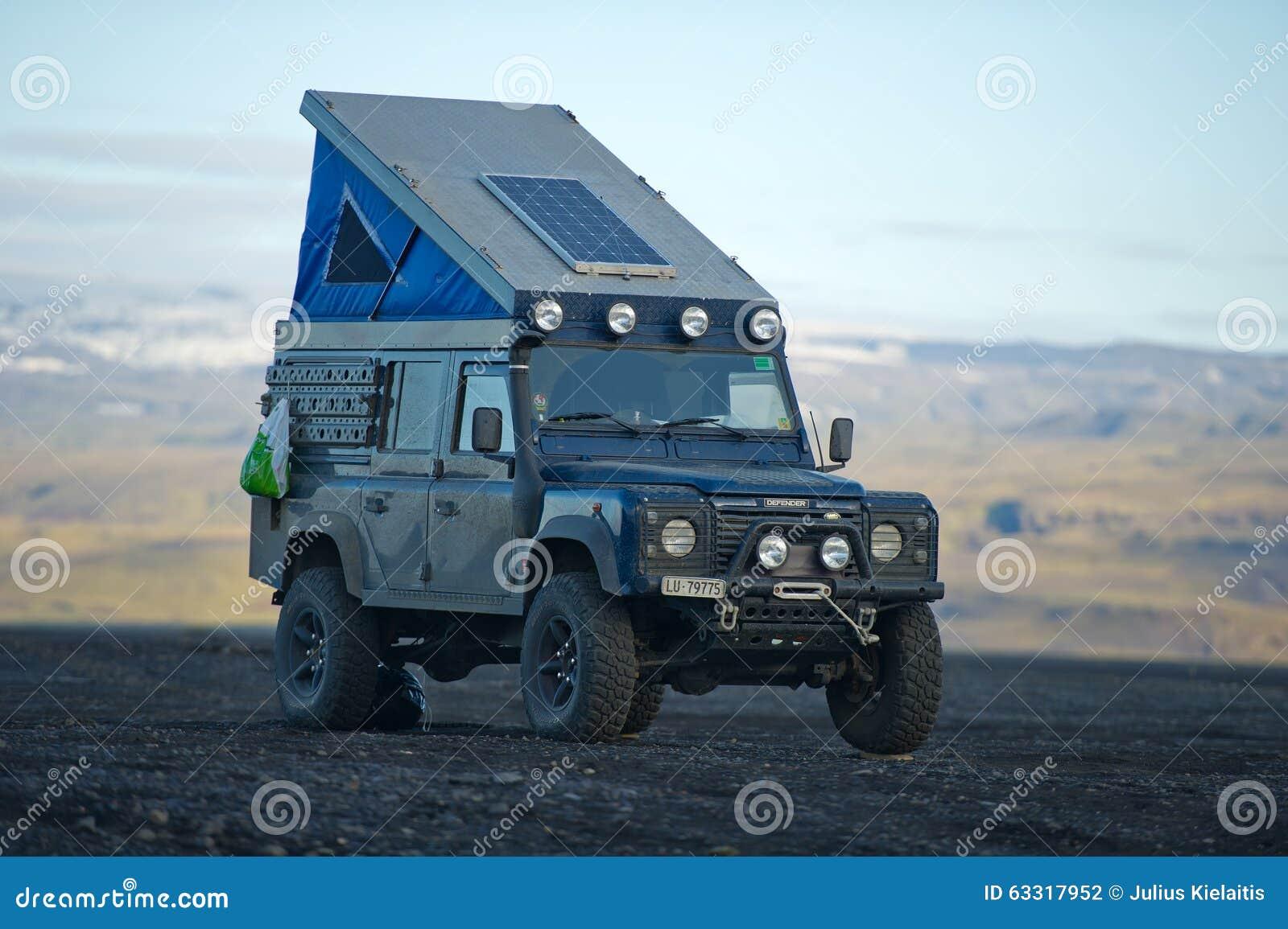 Land Rover Defender Overland Camper Editorial Photography