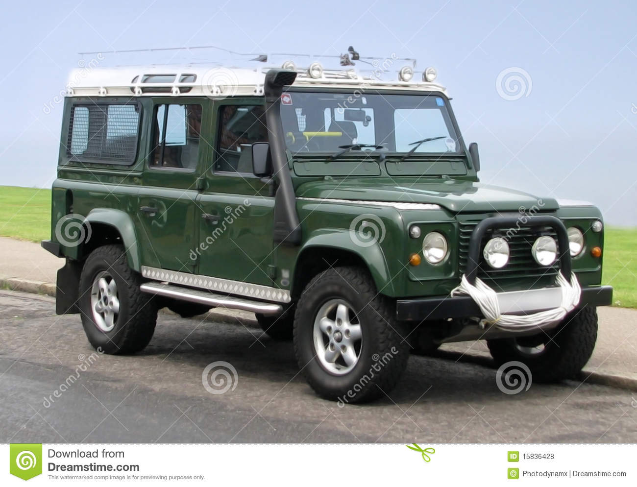 Rescue Green Jeep >> Land Rover Jeep County Station Wagon Royalty Free Stock ...