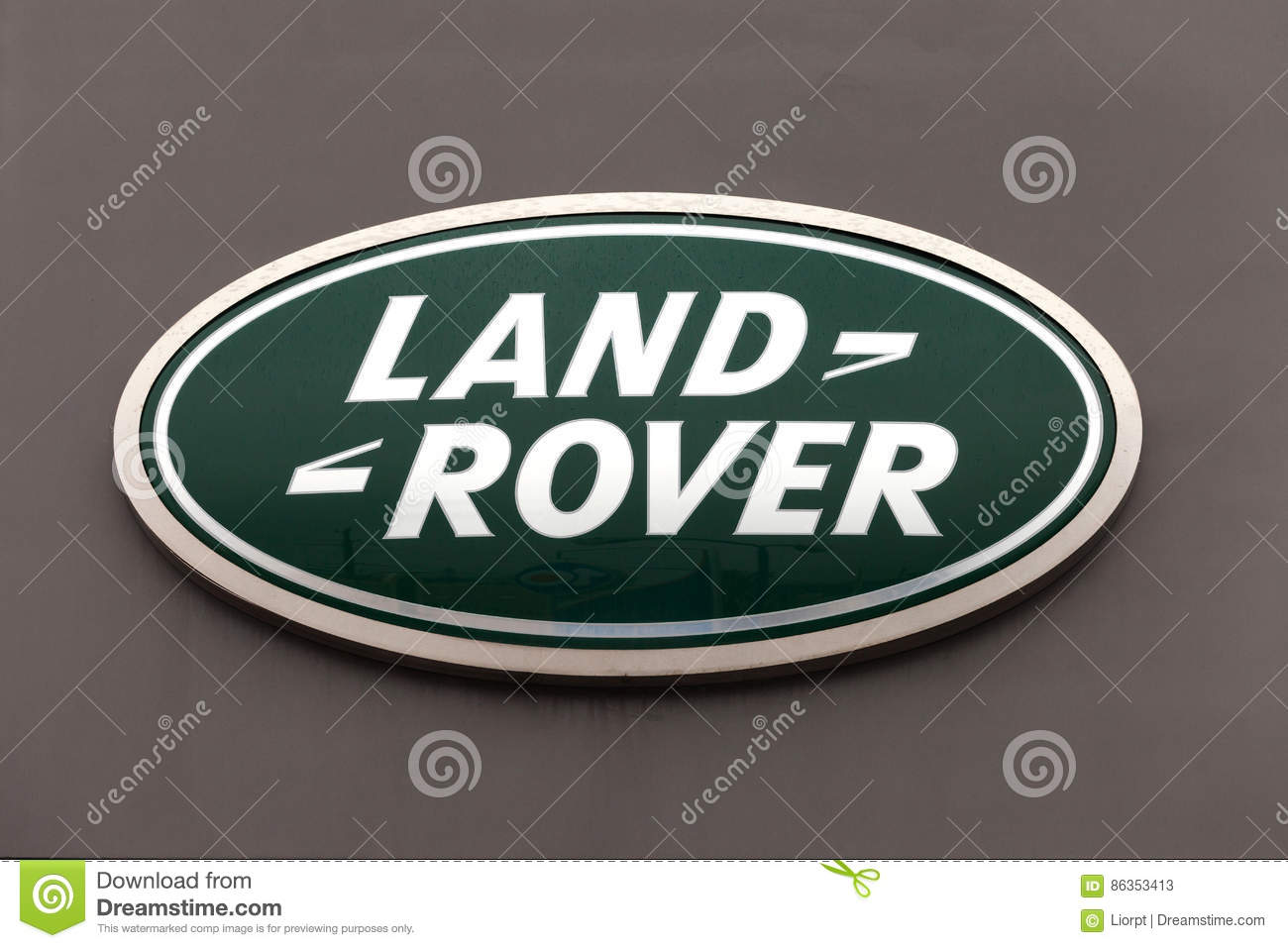 Land Rover Sign On A Dealership Wall Editorial Stock Photo Image
