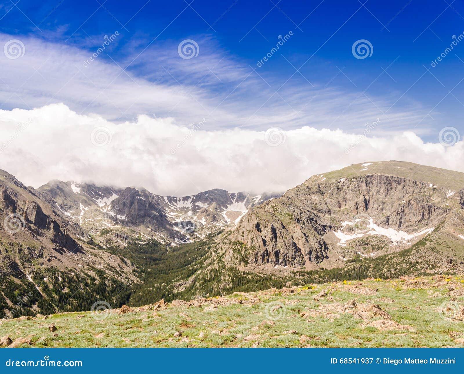 Landascape av nationalparken colorado för stenigt berg