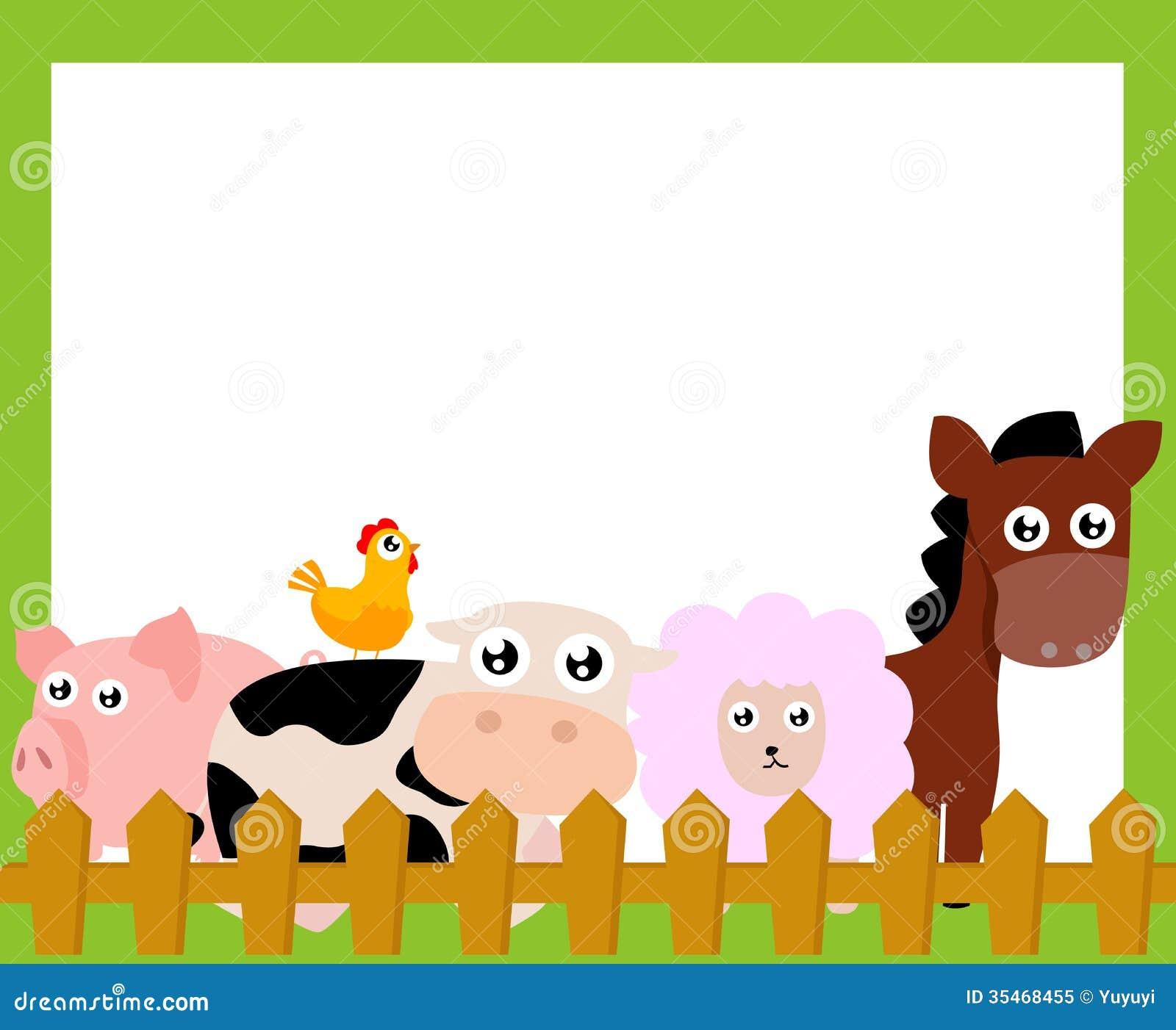Landbouwbedrijfdieren en kader