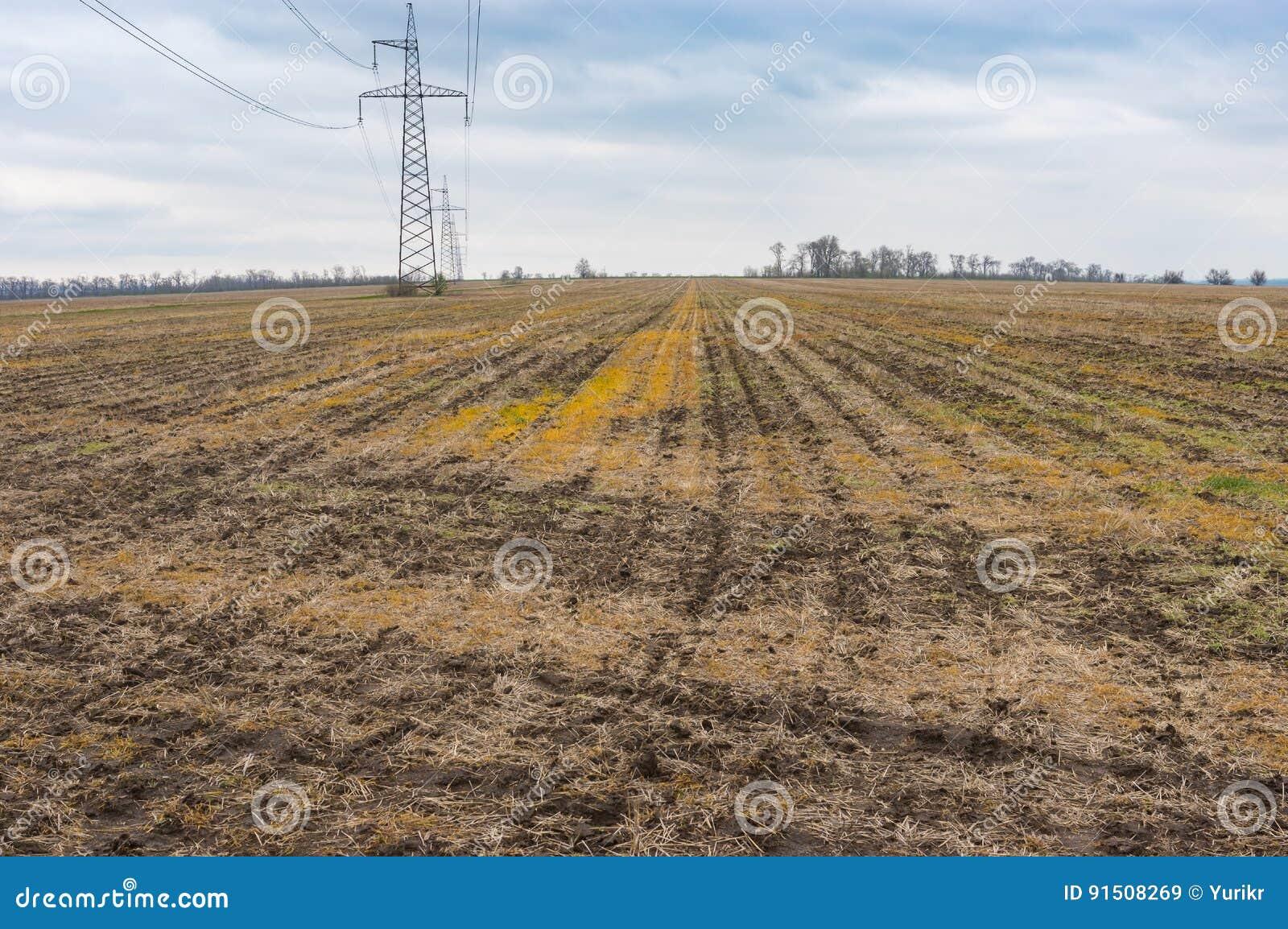 Landbouwlandschap Dichtbij Marhanets Stad De Centrale Oekraine
