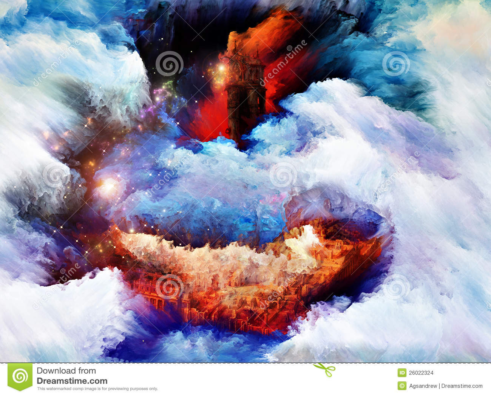 Landcape rêveur coloré
