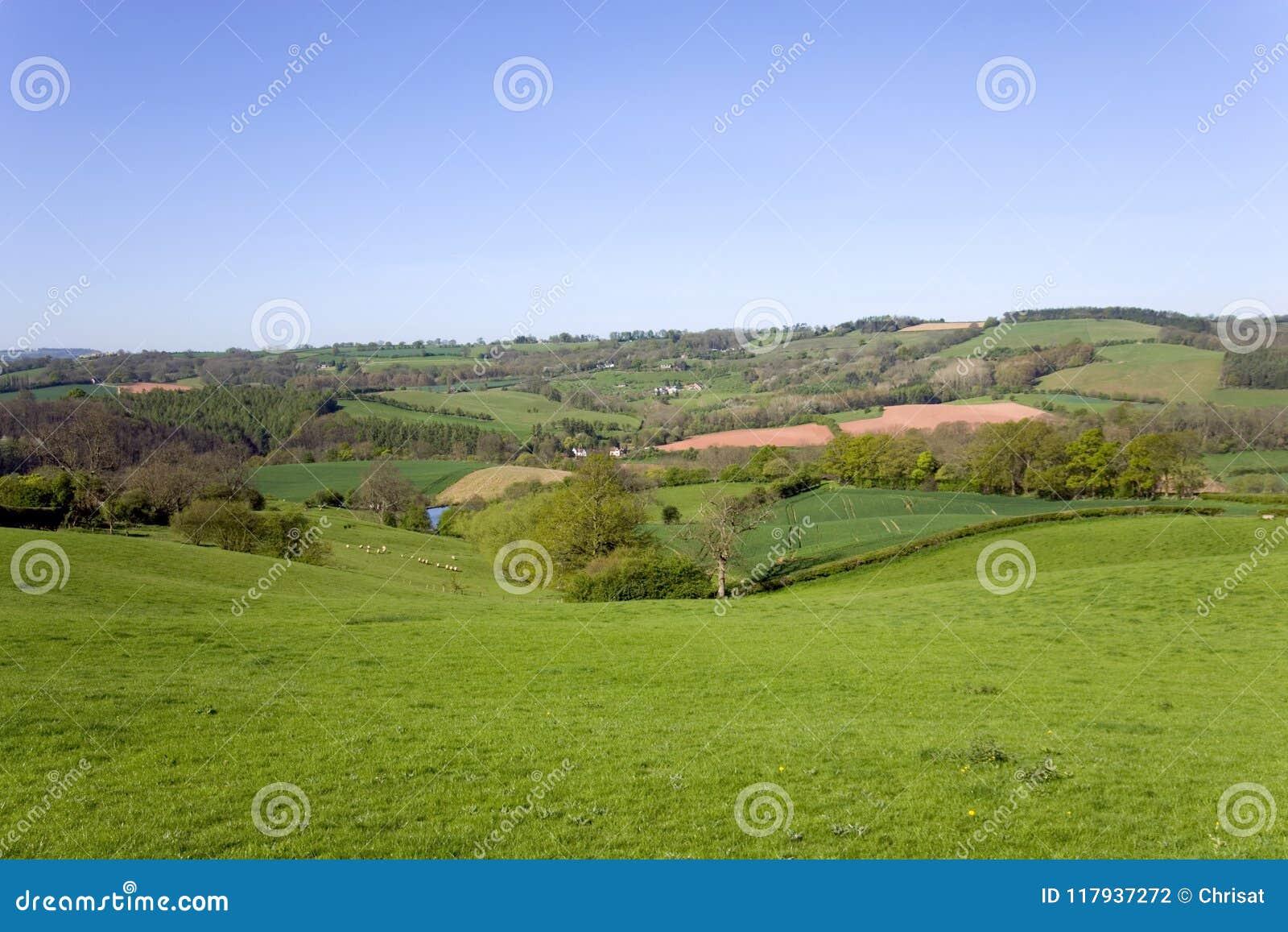 Landelijk Worcestershire-platteland dichtbij Pudford