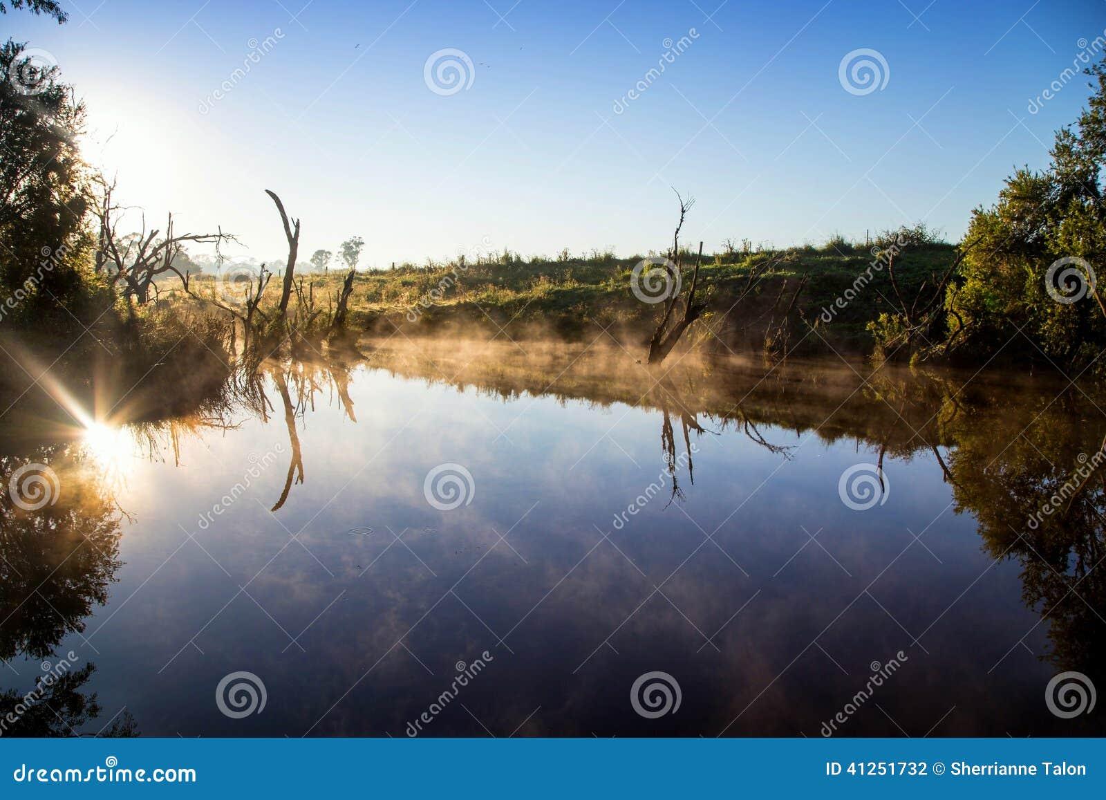 Landelijke Billabong in Queensland Australië