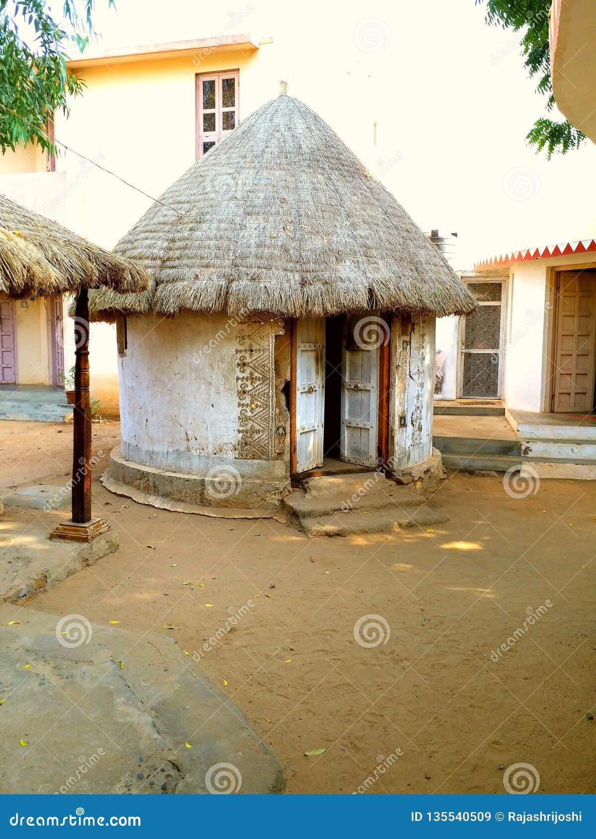 Landelijke en oude stammenhut