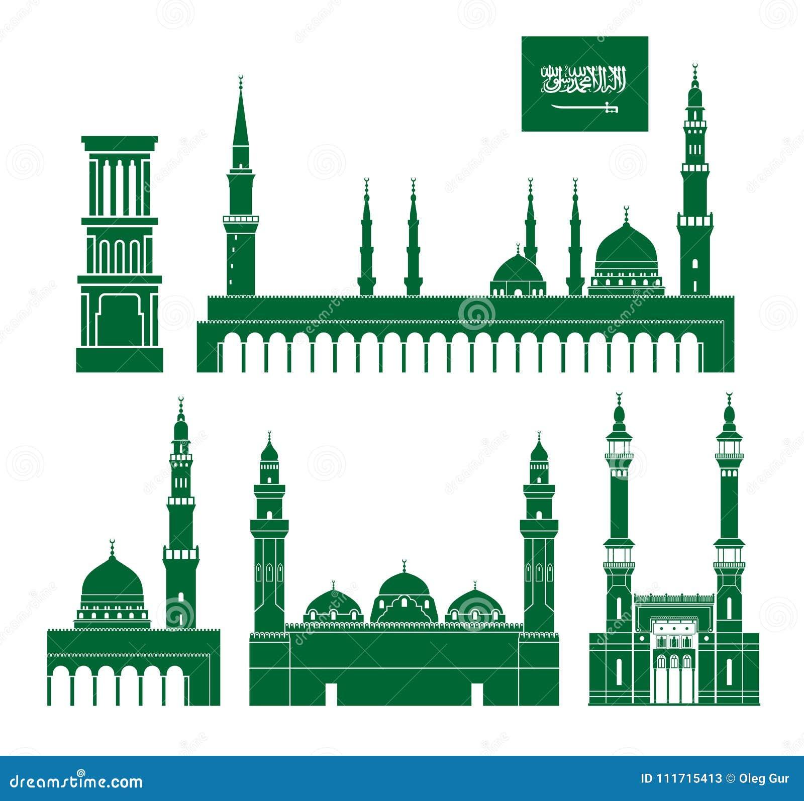 Landet för arabia bakgrundskanter detailed för regionsaudier för flaggor symboler isolerad white för form set Isolerad Saudiarabi