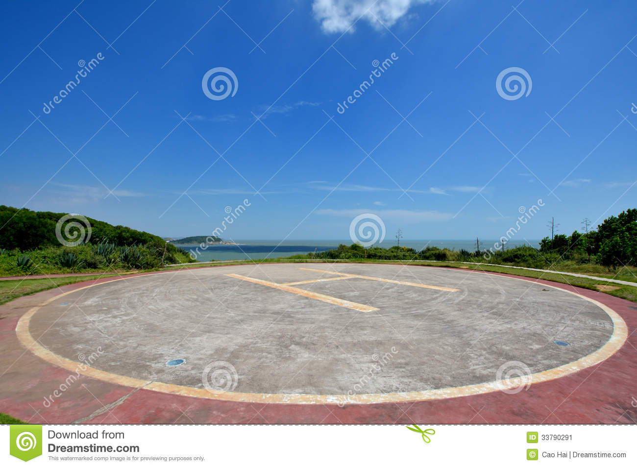 Landing Field Of Helicopter Stock Image