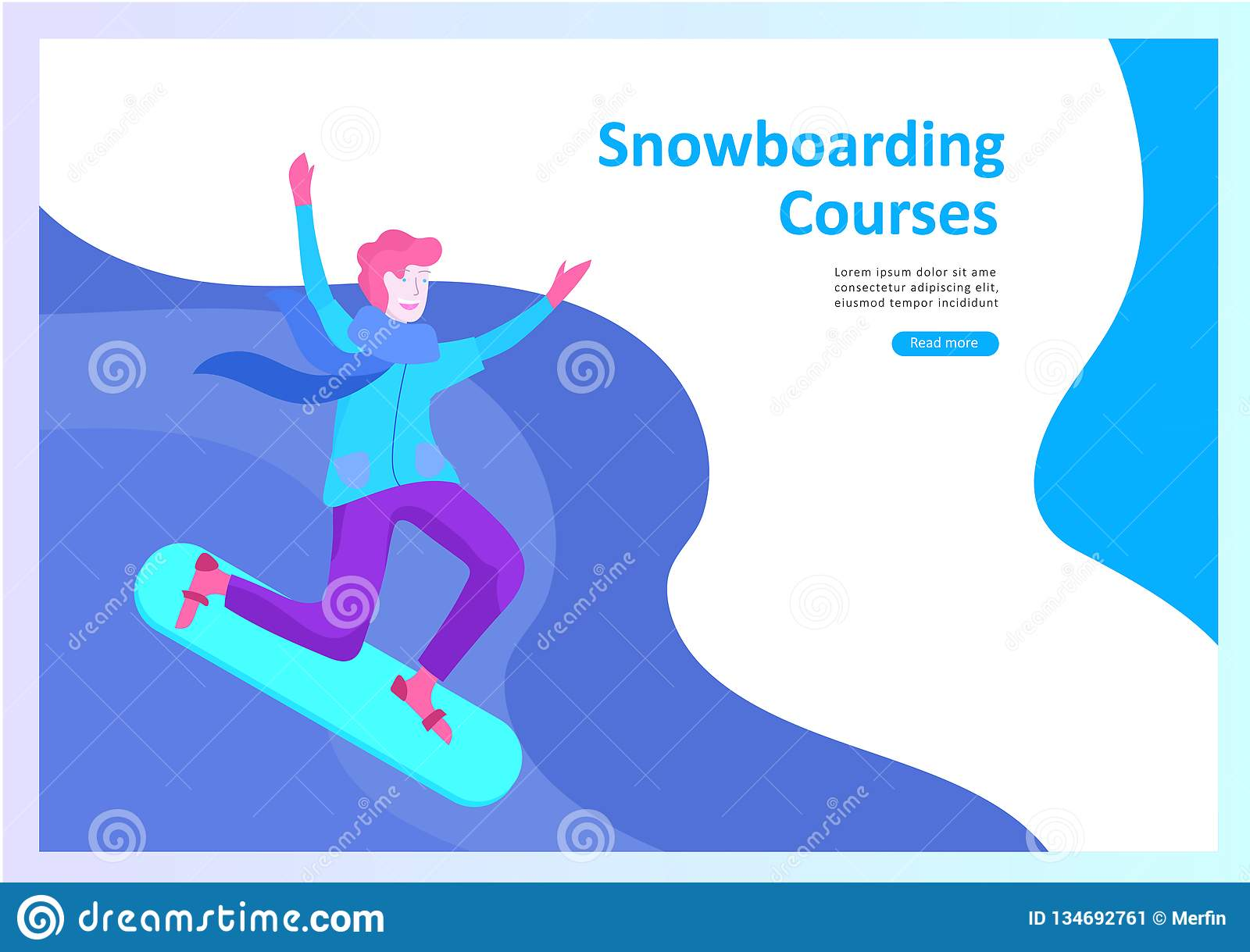 93b3ca788 Set Of Landing Page Templates. People Dressed In Winter Clothes Or ...