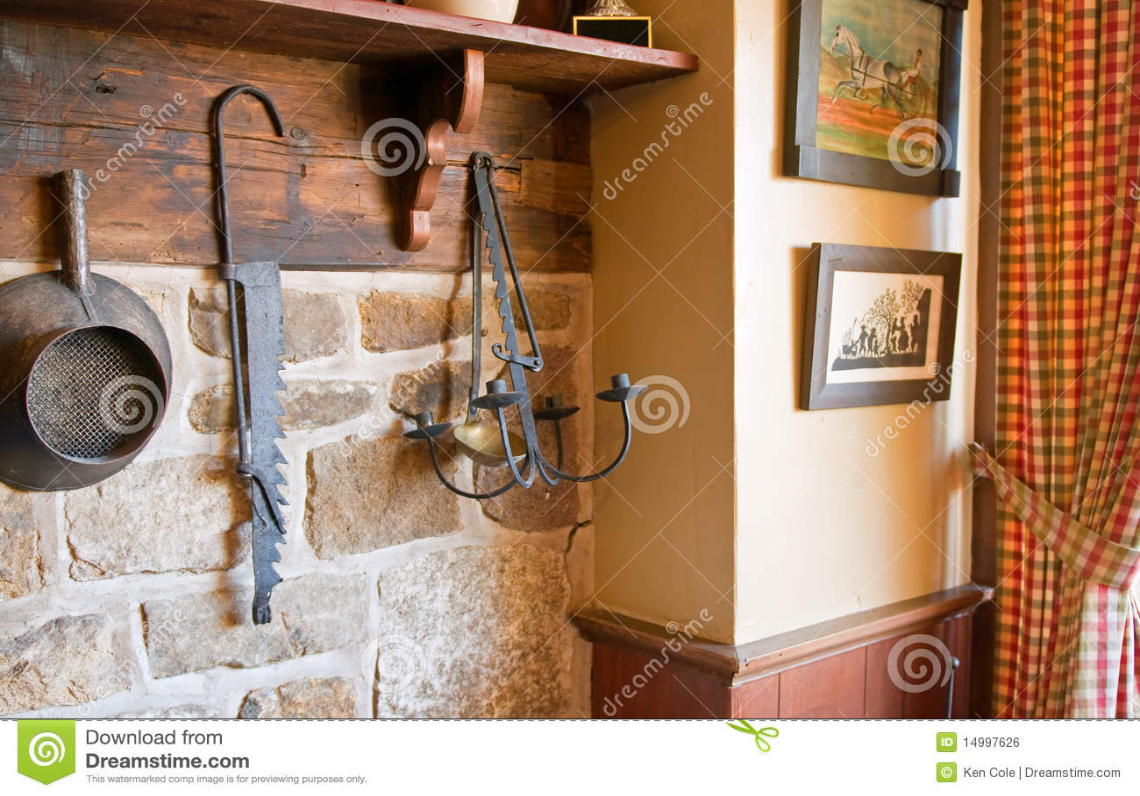 landküche mit antiken lizenzfreies stockbild - bild: 14997626 - Land Küche