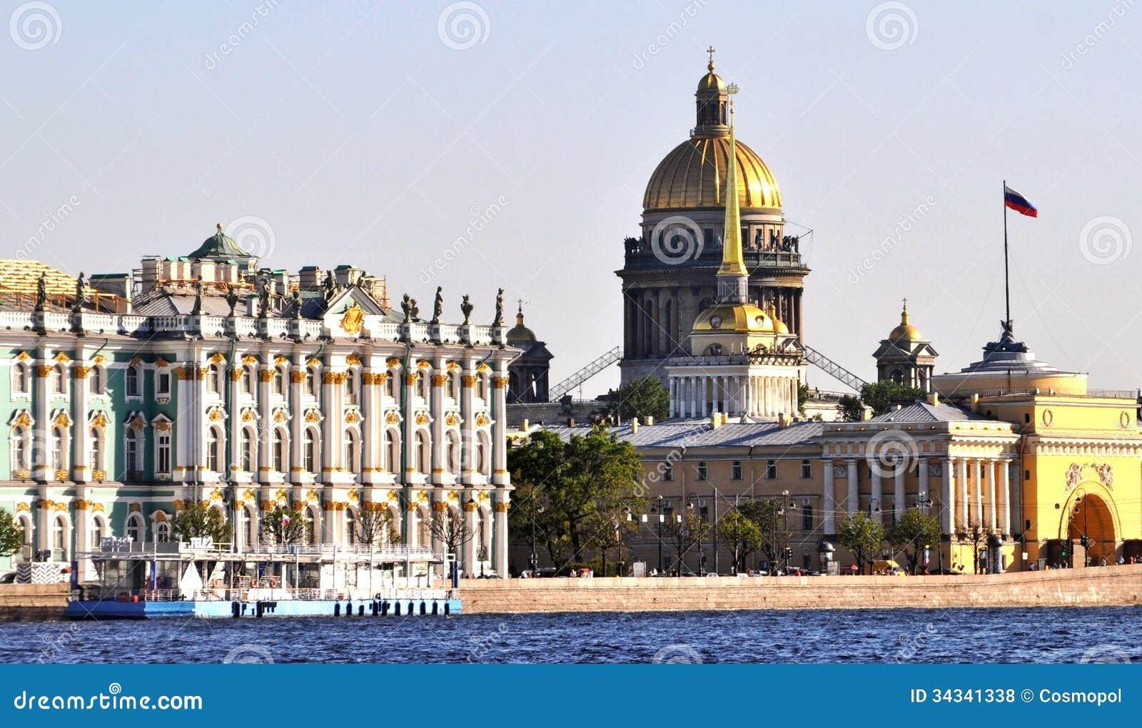 Landmark buildings st petersburg russia stock photo for Famous landmarks in russia