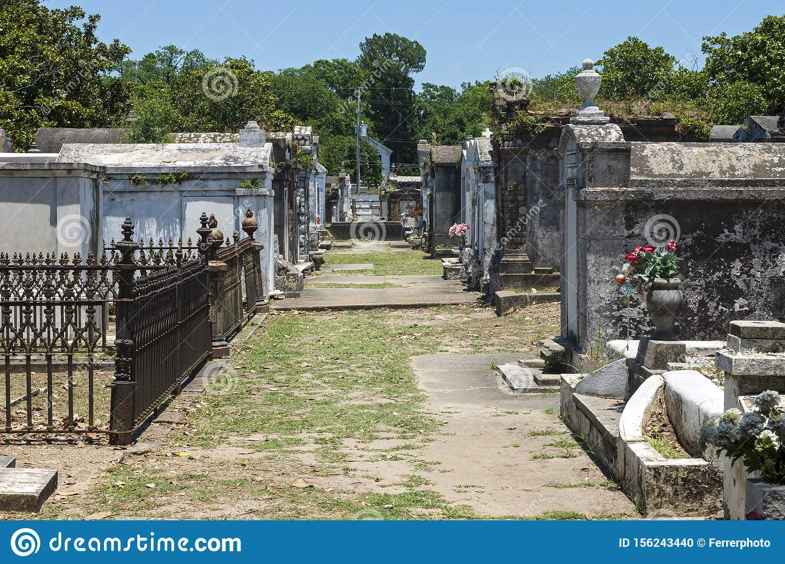 Landmark Cemetery Mausoleums in New Orleans