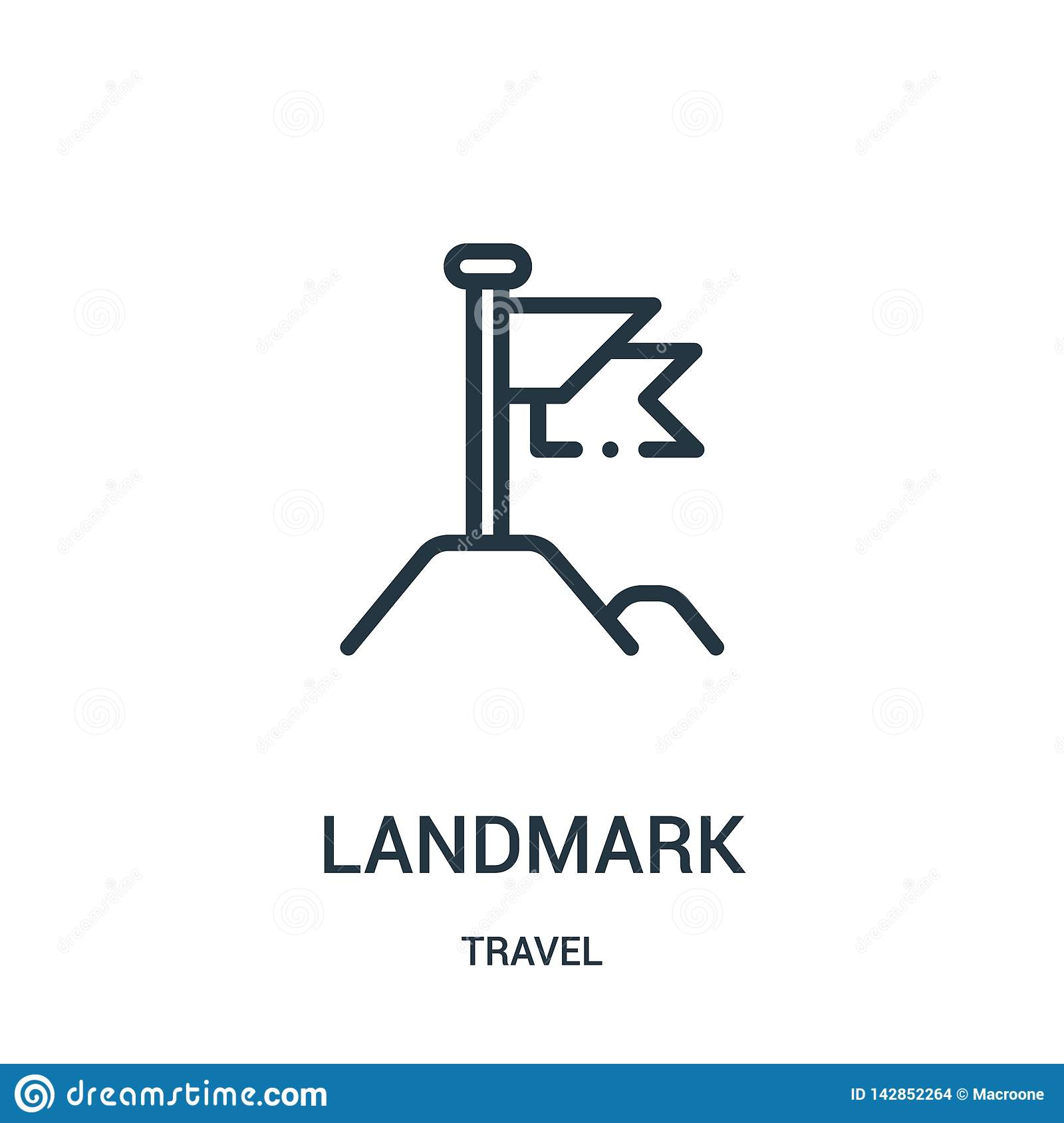 landmark icon vector from travel collection. Thin line landmark outline icon vector illustration. Linear symbol for use on web and
