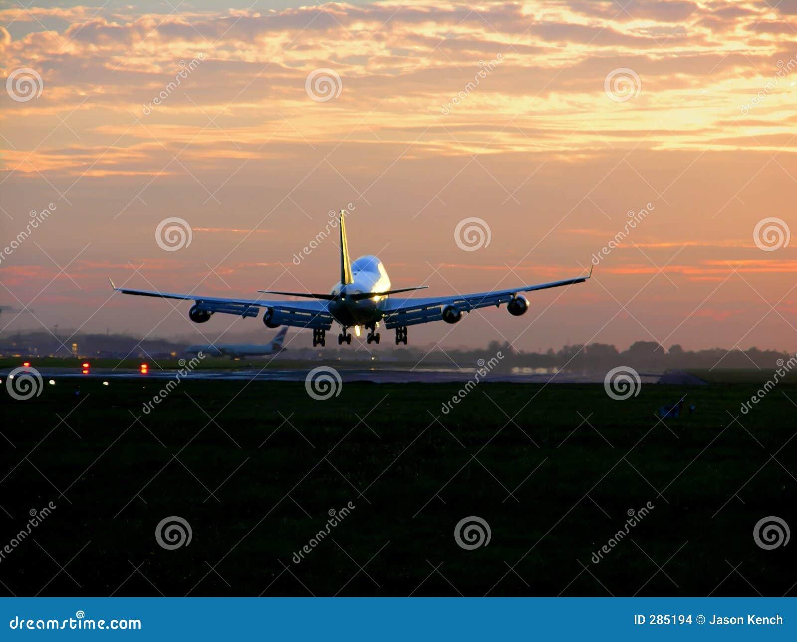 Landning för 2 flygplan