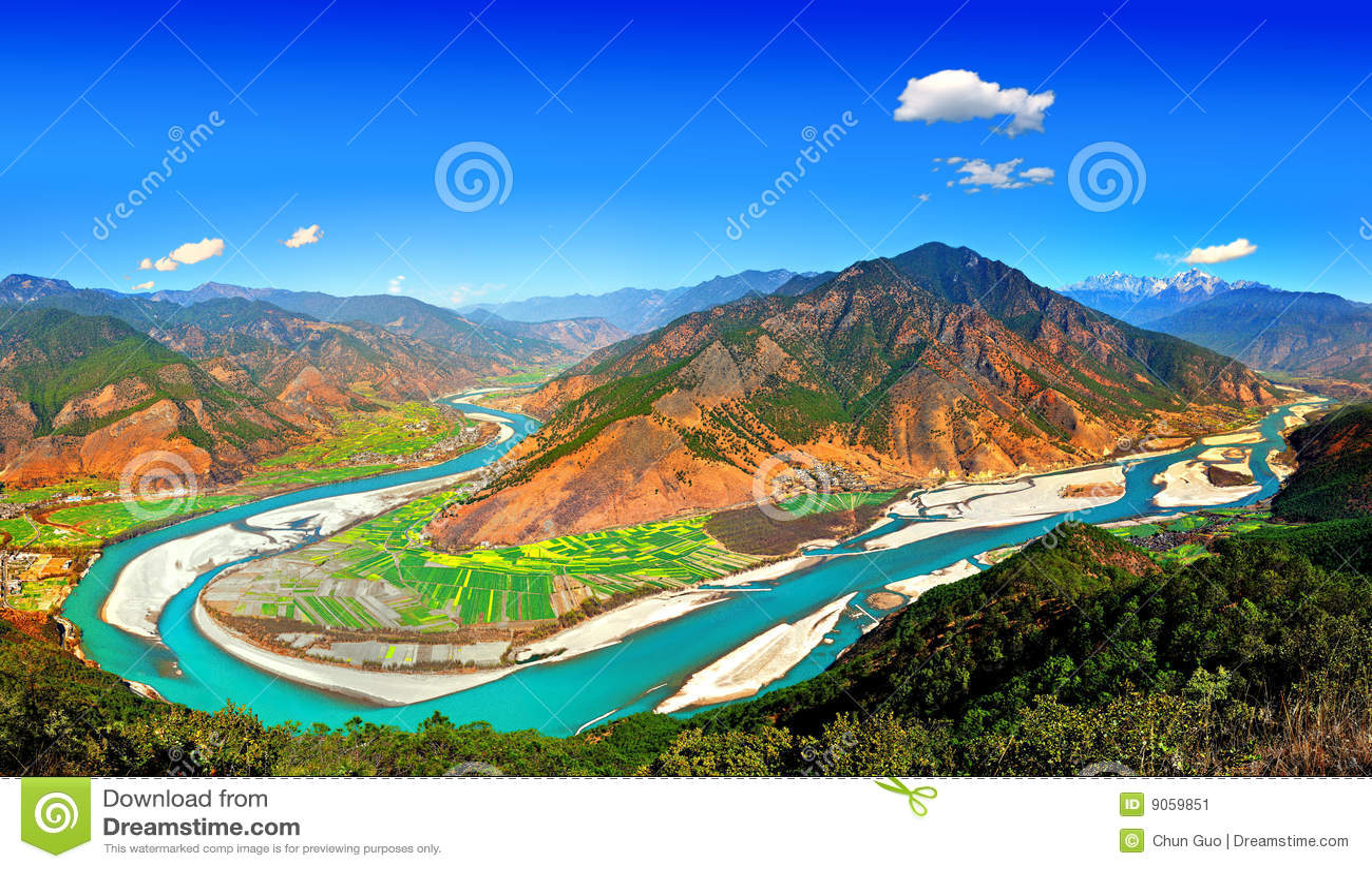 Landscape река yangtze